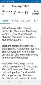 Hanscom No Hitter #2