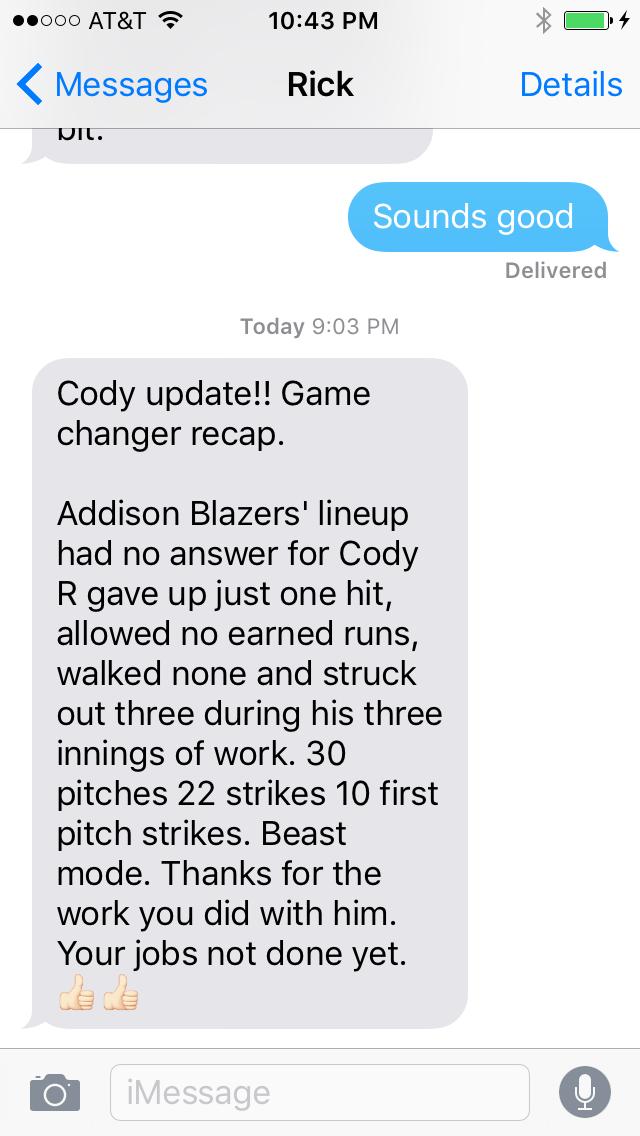 Cody Reilly Testimonial