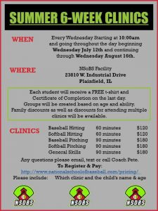 2017 summer pitching clinic