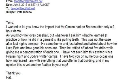 testimonial, Braden
