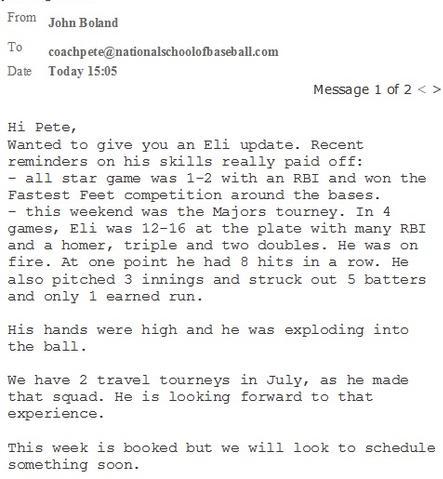 testimonial, Eli Boland