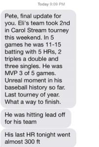 testimonial, Eli's Dad