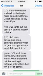 testimonial, Kyle Prebis